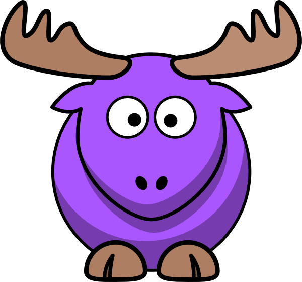 Moose clipart pink. Purple cartoon png svg