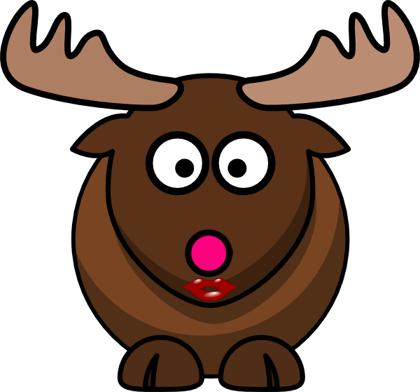 Moose clipart pink. With nose clip art