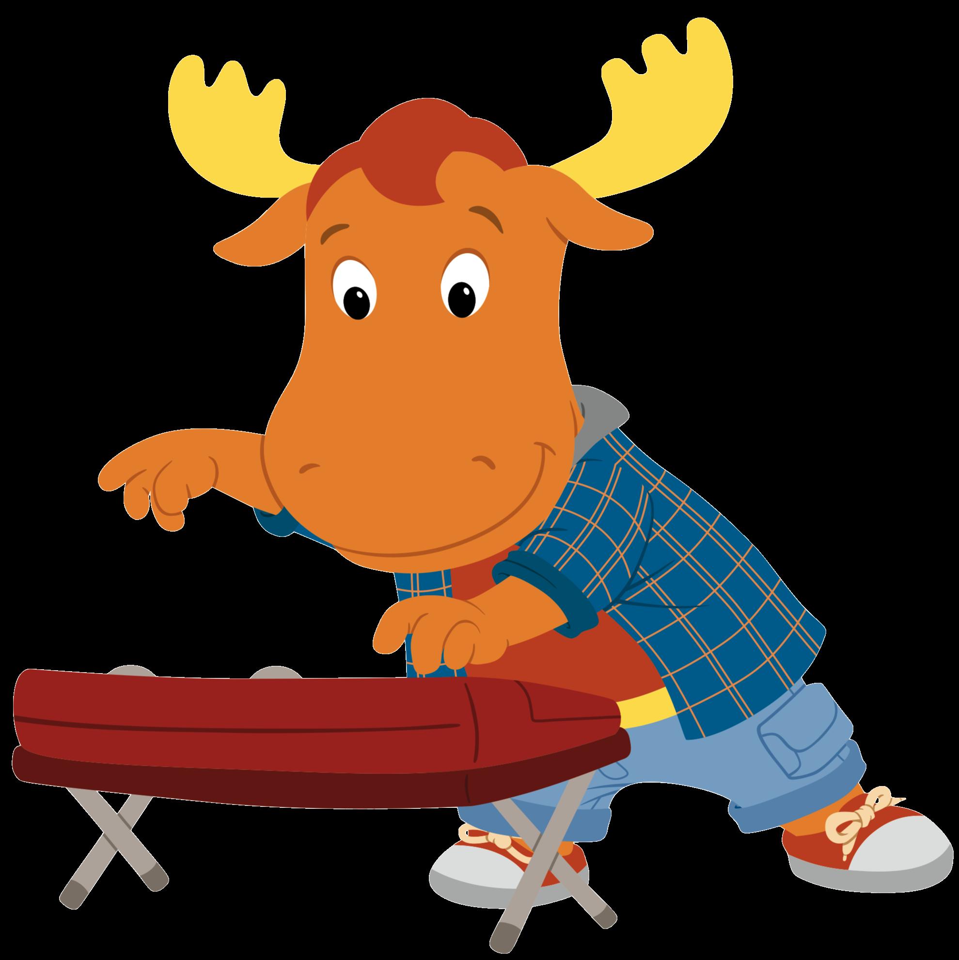 Moose clipart plaid. Keyboardist tyrone the backyardigans