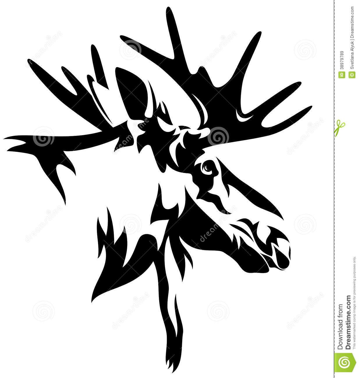 Moose clipart realistic cartoon. Pin by kim somerville