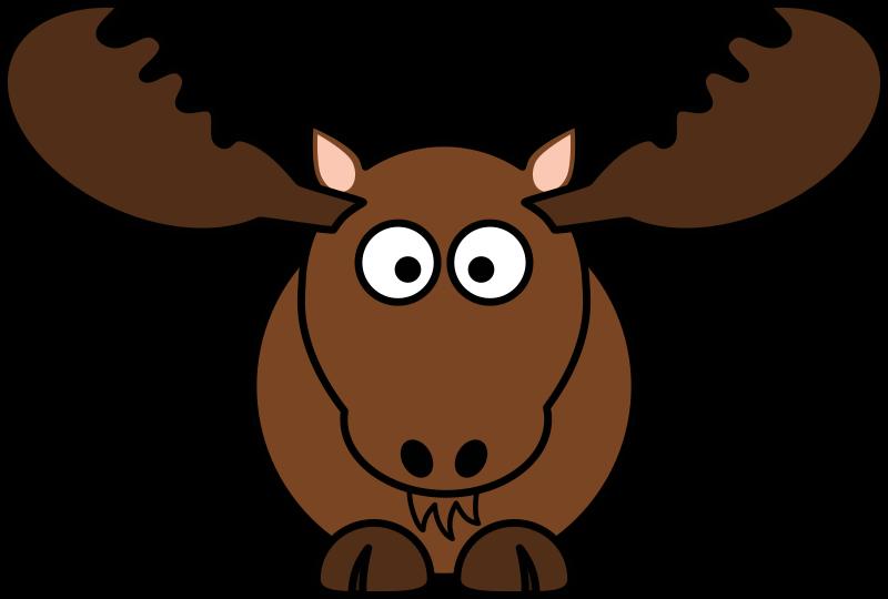 Clip art free bay. Moose clipart simple cartoon