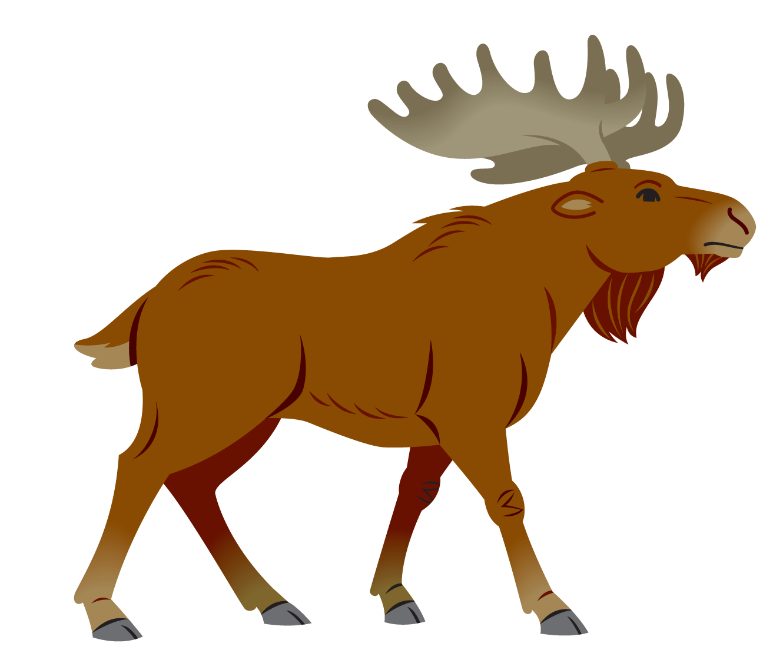 Moose clipart simple cartoon. San saba s first