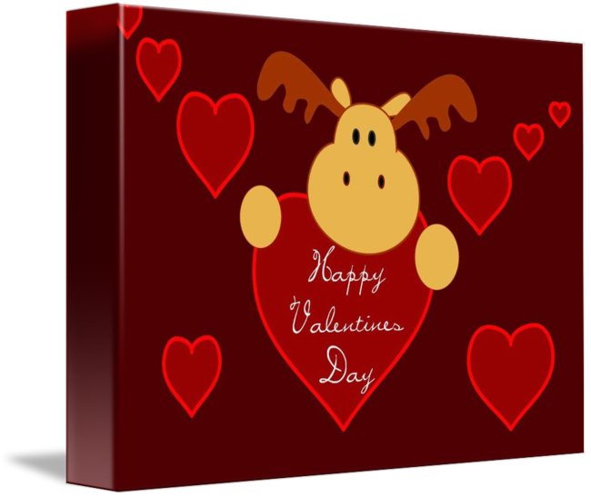 Moose clipart valentine. Happy s day by