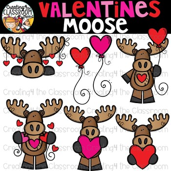 Moose clipart valentine. S