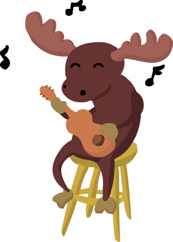 Singing by almightyoracle on. Moose clipart vector