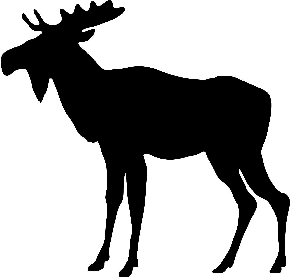 Image of clip art. Moose clipart vector