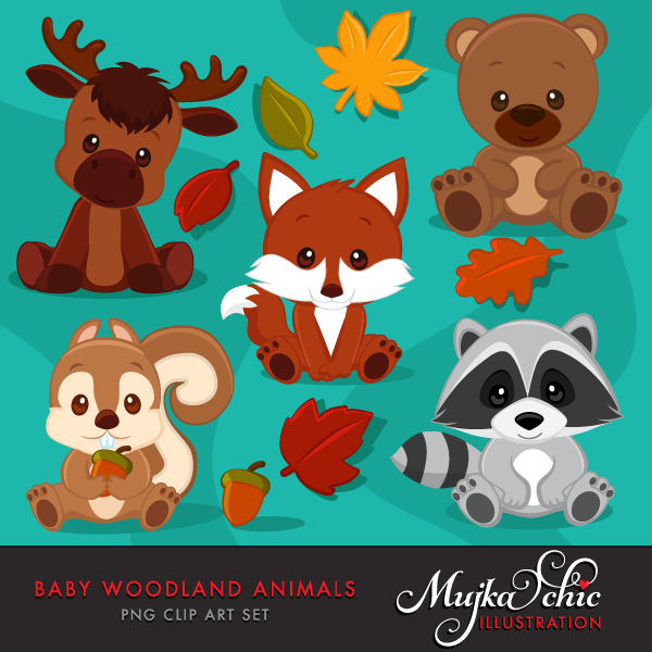 A wonderful set of. Woodland clipart woodland character