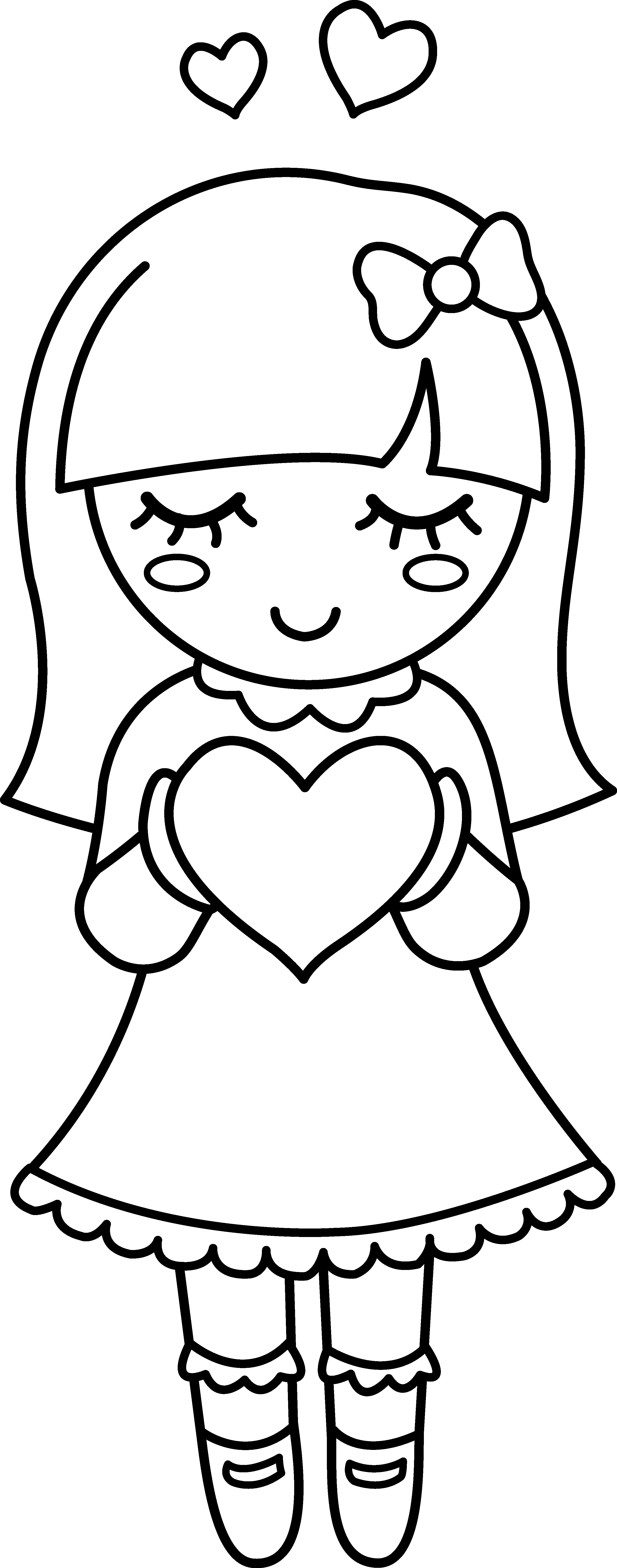 Noodles clipart black and white. Sweetclipart com cute valentine