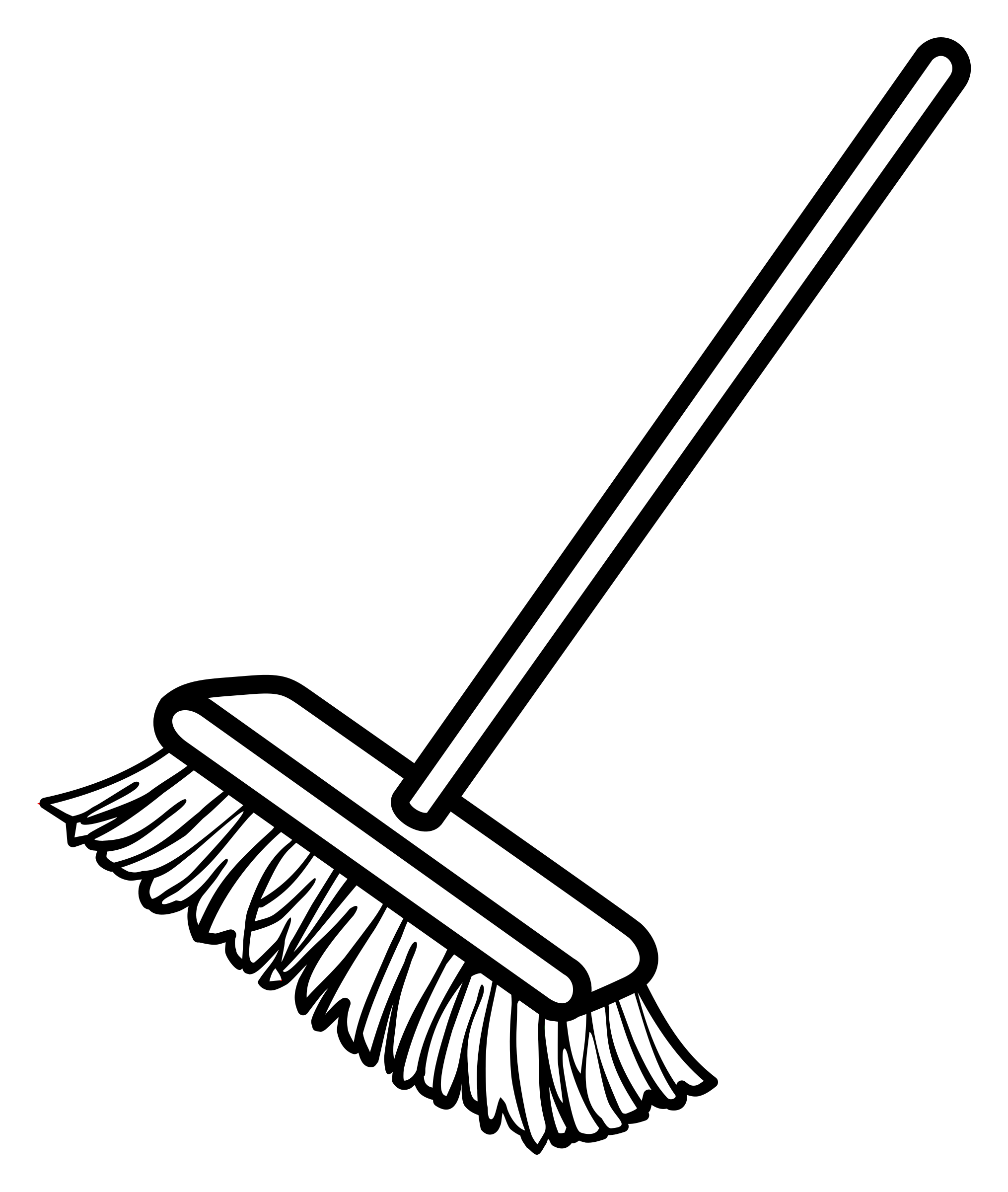 collection of high. Broom clipart black and white