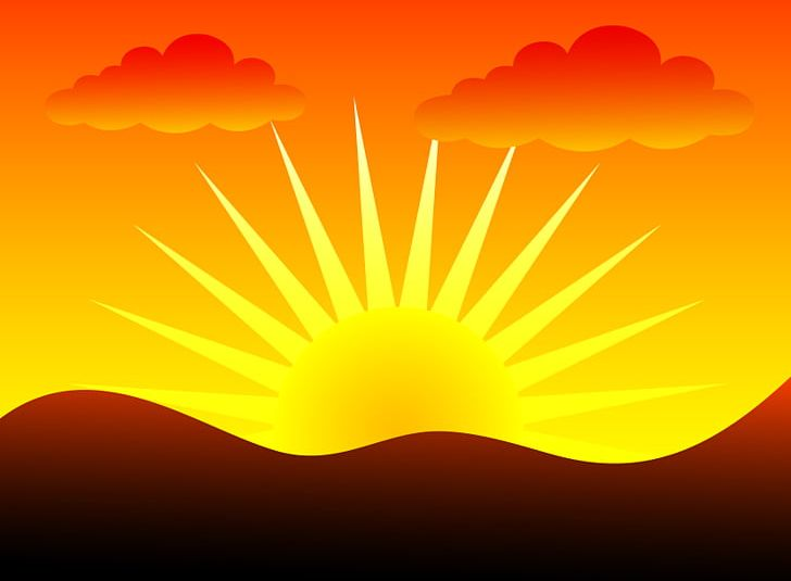 Sunset clipart sun rice. Sunrise png arts atmosphere