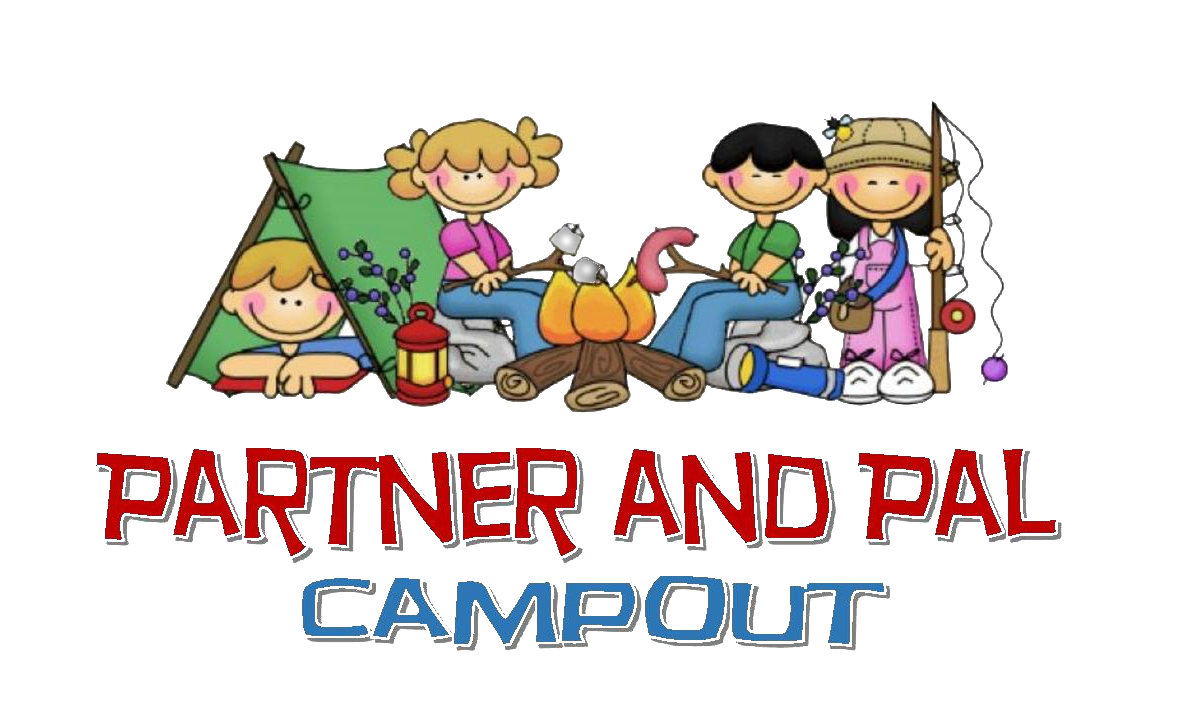 Partner and pal campout. Morning clipart getaway