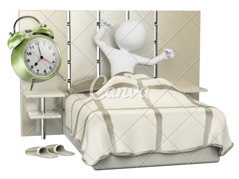 Morning clipart morning clock.  d white people