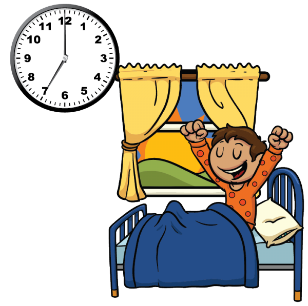 Morning clipart morning clock. Times of the day