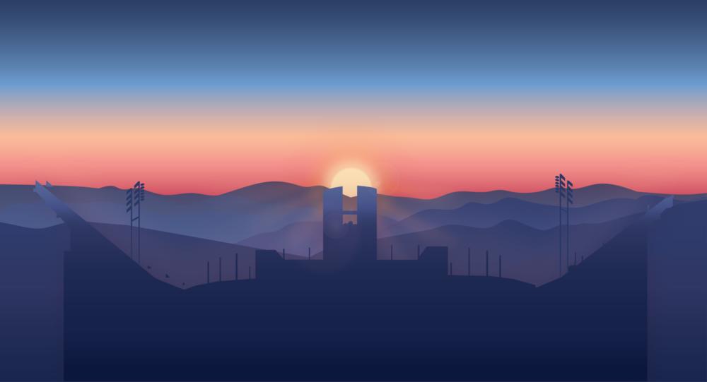 sunset clipart sunrise over