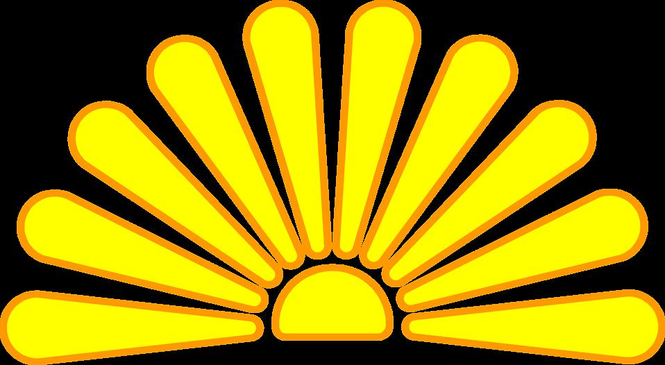 Sunset clipart red sun. Free stock photo illustration