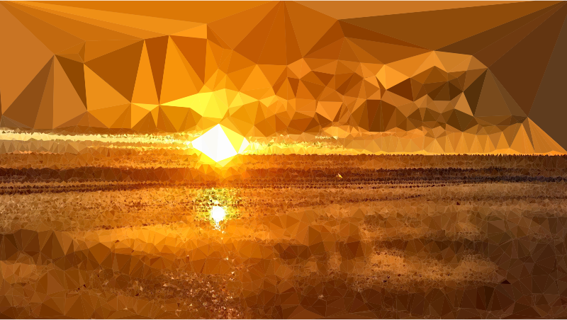 Low poly lens flare. Morning clipart sunset sunrise