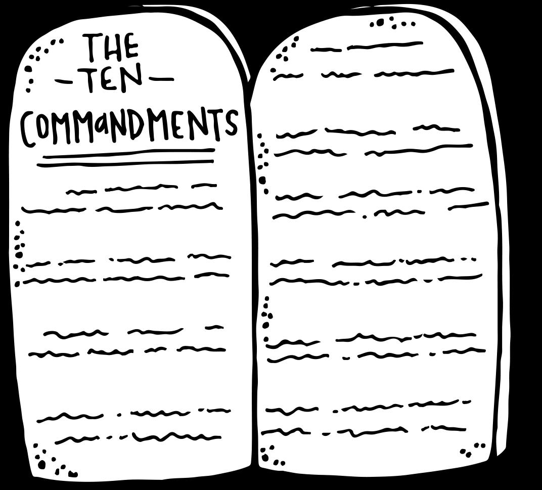 Melonheadz lds illustrating freebie. Ten commandments clipart kid coloring page
