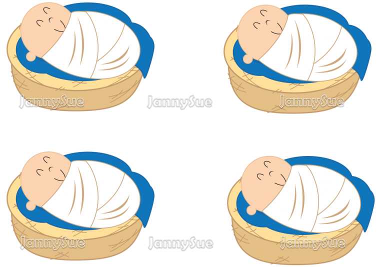 Baby in the river. Moses clipart bulrush clipart