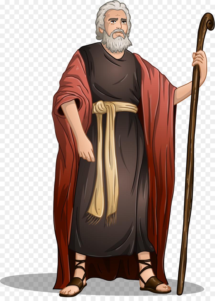 Moses clipart cartoon. Book illustration drawing