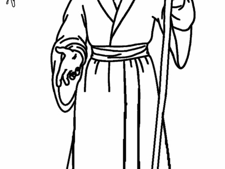 Collection of free download. Moses clipart coloring page