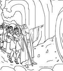 Moses clipart coloring page. Free printable pages and