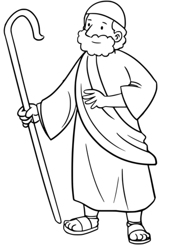 Free printable pages . Moses clipart coloring page