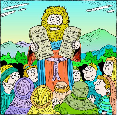 Image moses and the. Ten commandments clipart deuteronomy