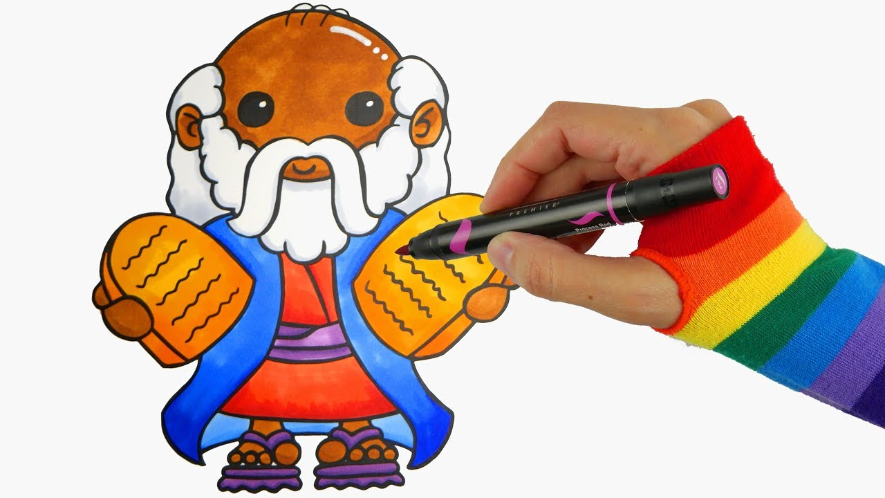 Moses clipart easy. Sunday school drawing coloring