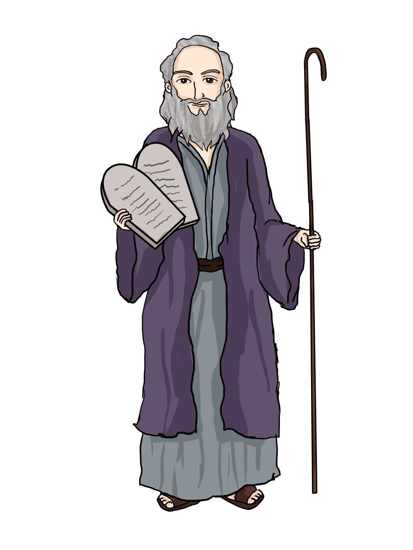 moses clipart easy