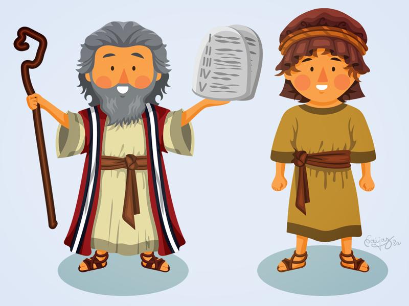 Flat characters by naida. Moses clipart isaac bible