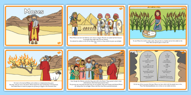 Life of storyboard sequencing. Moses clipart ks1