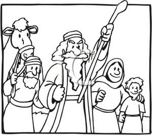 Moses clipart line drawing. Free religious clip art