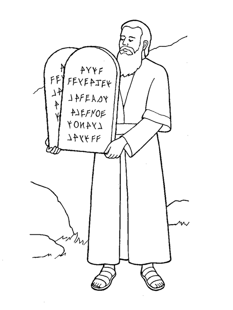 Moses clipart line drawing.