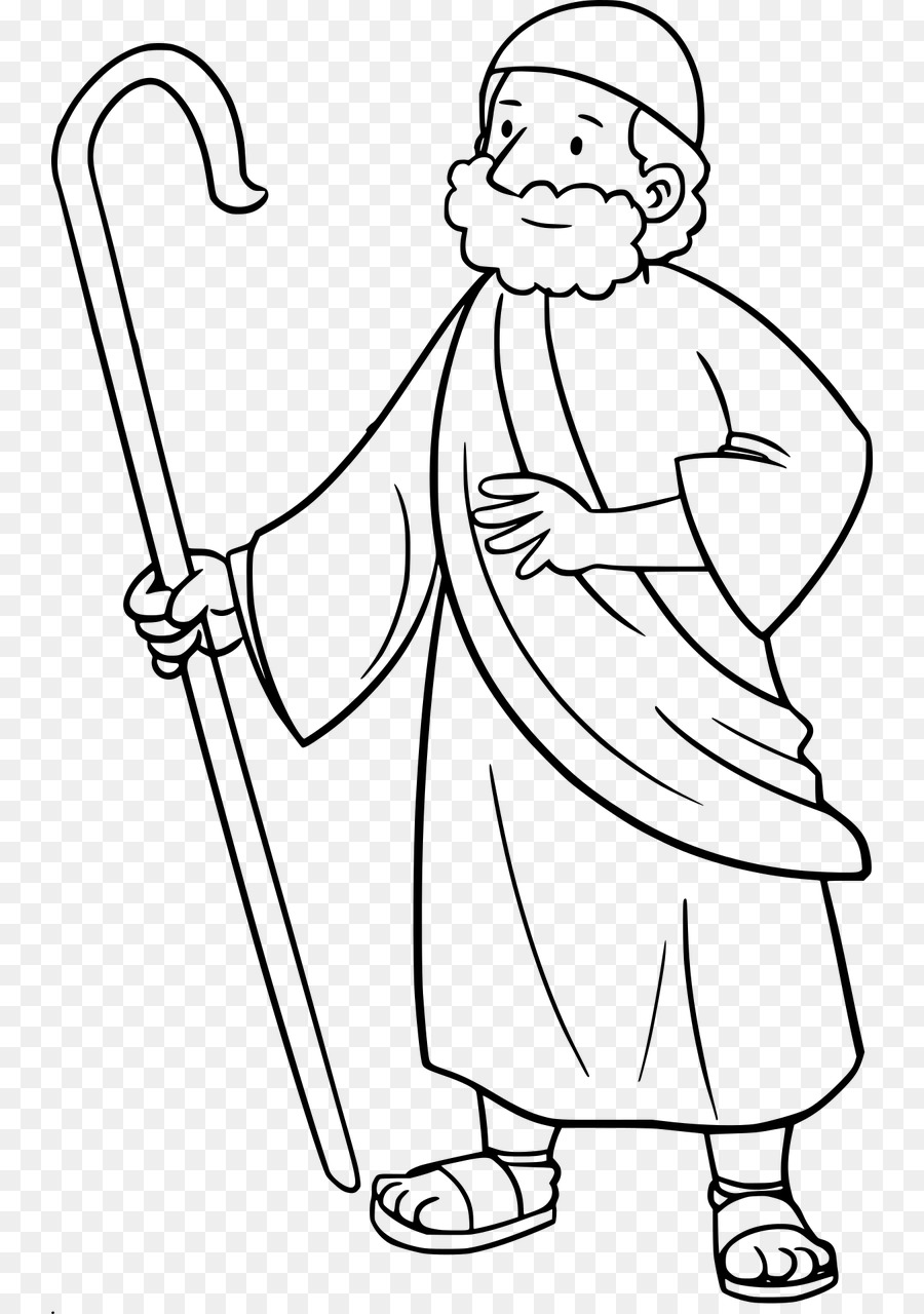 Download free png white. Moses clipart line drawing