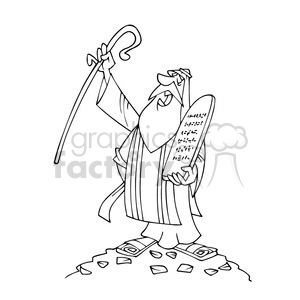 Bw cartoon caricature royalty. Moses clipart line drawing