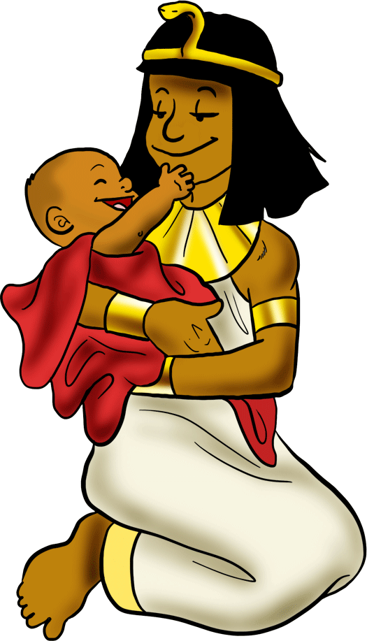 Moses clipart moshe. Pharaoh s daughter with