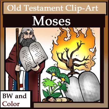 Moses clipart old testament character. Clip art pc set