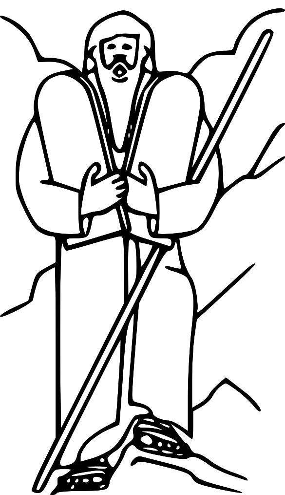 Free cliparts download clip. Moses clipart outline
