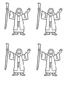 best crossing the. Moses clipart outline