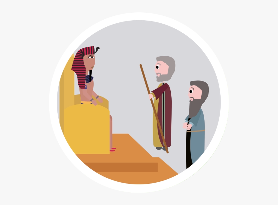 Passover pharaoh illustration cliparts. Moses clipart pharoah