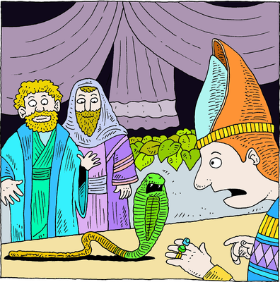 Moses clipart pharoah. Image cast your rod