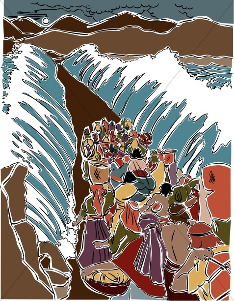 Parts the . Moses clipart red sea