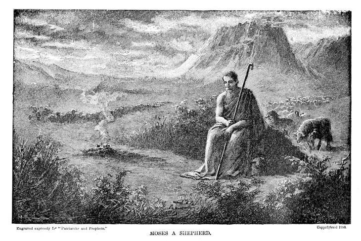 Moses clipart sheperd. A shepherd