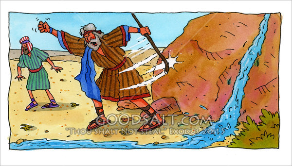 Anger does not honor. Moses clipart struck the rock