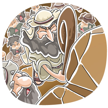 Moses clipart struck the rock. Christian cliparts net twice