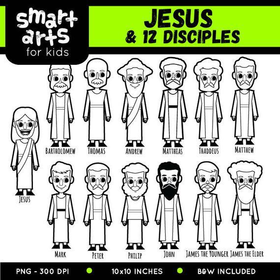Moses clipart twelve disciple. Jesus and disciples clip