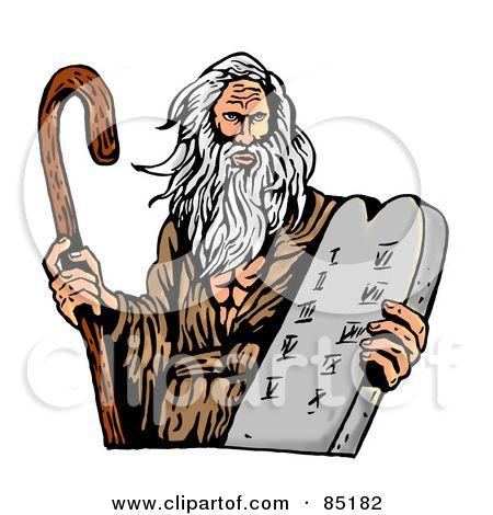 ten commandments clipart cartoon