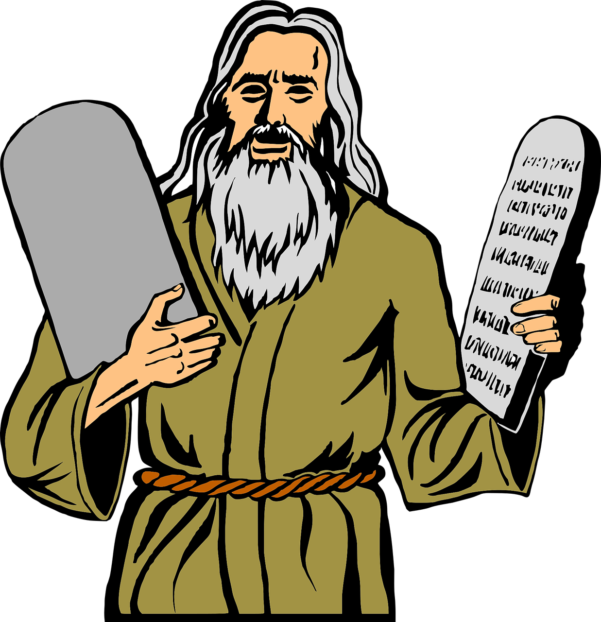 Moses clipart twice. When the squad hands