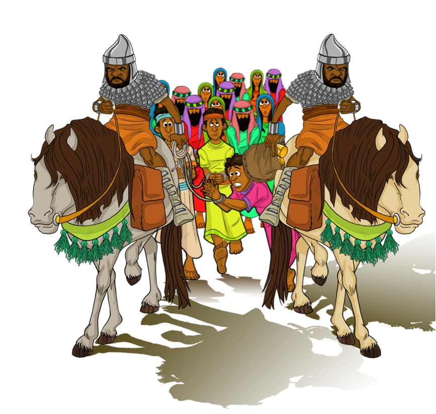 Daniel and his friends. Moses clipart twice