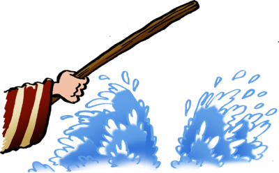 Moses clipart twice. Image parting of the